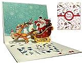 Weihnachtskarten, Deesospro® Karte 3D pop up Grußkarte mit schönen Papier-Cut,...