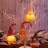 goodjinHH 4er Weihnachten Deko Wichtel mit LED 20 cm Hoch, Schwedischen...