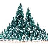 MELLIEX 60 Stück Miniatur Weihnachtsbaum Künstlicher Mini Modell Weihnachtsbaum...