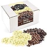 Sweet Wishes 900g Fondue-Schokolade aus Belgien Schoko-Mix aus Vollmilch, Zartbitter...