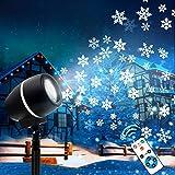 LED Projektor, Zenoplige Schneeflocke Projektionslampe Lampe Licht Romantische...