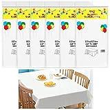 Dadabig 6 Stück Einweg Tischdecke, Wasserdichte Verdickte Weißen Tischdecke...