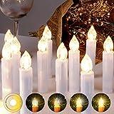 LED Weihnachtskerzen Kabellos Kerzen Weihnachtsbaumkerzen Christbaumkerzen mit...