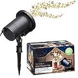 LED Projektor Garten Licht rotierende Sterne warmweiß Weihnachten outdoor IP44