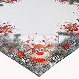 KAMACA Serie Elch mit roter Nase hochwertiges Druck-Motiv mit lustigen Elchen...