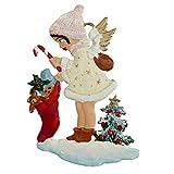 Zinngeschenke Engel mit Geschenken aus Zinn beidseitig von Hand bemalt mit weißem...