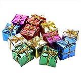 12 STÜCKE Geschenkbox Anhänger Bunte Weihnachten Hängende Ornament Cube...
