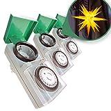 Zeitschaltuhr Aussenbereich 3er Set - Zauberhafter Lichterglanz automatisch geregelt...