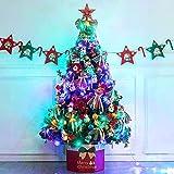 XFHLL Weihnachten Kreativer Bedarf, Weihnachtsbaum Bunter Weihnachtsschmuck Und...