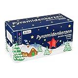 JEKA Pyramidenkerzen klein, rot ca. 14 x 74 mm 50 Stück/Pack, Weihnachtskerzen,...