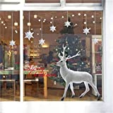 Kfnire Fensteraufkleber Weihnachten, Weihnachtlicher Zierschmuck, Fensterbilder...