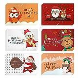 Weihnachtskarten mit Umschlägen und Aufkleber (24er Set), Klappkarten Grußkarten...