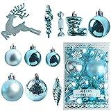 MEISHANG 30PCS Weihnachtskugeln,Kunststoff Christbaumkugeln,Weihnachtsbaum Bälle...