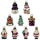Busy Bee Mini Glas Weihnachtskugeln für kleine Christbaumkugeln 9 Stück Miniatur...