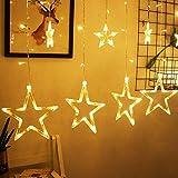 LED Lichtervorhang, Kaliwa Batteriebetriebe Lichterkette 138 LEDs Weihnachts Lichter...