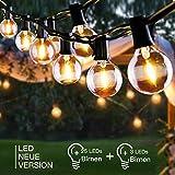 LED Lichterkette Außen, FYLINA 10m Lichterkette Glühbirnen mit 28er Birnen, G40...