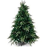 OZAVO Künstlicher Weihnachtsbaum 180 cm hoch, PE Spritzguss und PVC Mix Tannenbaum...
