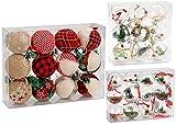 Brubaker 12-teiliges Set Weihnachtskugeln Christbaumkugeln Jute bezogen -...