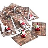 20 kleine mini Geschenke Engel Santa Nikolaus Weihnachtsmann rot weiß MIT KARTE...