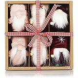 com-four® 6X Premium Weihnachtsmann-Anhänger für den Weihnachtsbaum, Verschiedene...