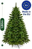 Weihnachtsbaum künstlich 180 cm – Edle Nordmanntanne mit Weihnachtsbaumständer...