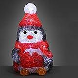 Deuba LED Acryl Figur Weihnachtsdeko Pinguin beleuchtet Weihnachten Deko Indoor...