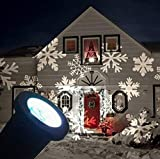 Light Deal IP67 LED Projektionslampe Schneeflocken Muster Strahler für Weihnachten...