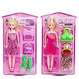Runfon 1 Set mit niedlichen Figuren, Prinzessinnenkleid, Kleid, Puppe, Spielzeug,...