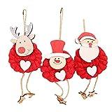 MMLsure® Filz Anhänger Weihnachten,Weihnachtskugeln mit Hackschnitzel-...