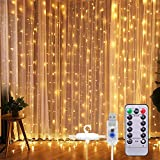 SUNNEST LED Lichterketten Lichtervorhang 300 LEDs USB Vorhanglichter String Light 8...