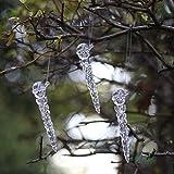 DAHI Weihnachtsdeko schneemann eiszapfen 30 stück Weihnachtsbaum Deko -...