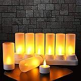 EXTSUD 12er LED Flammenlose Kerzen,Wiederaufladbare Kerzen, Batteriebetriebene Kerzen...