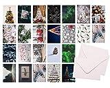 48x Weihnachten Geschenkkarten mit Briefumschlägen Umschlag - Grußkarten - Karten -...