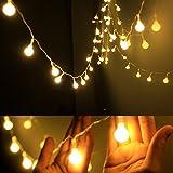 Dailyart Lichterkette, 4m, wasserdicht, IP44,lang, kugelförmige Leuchtmittel,...