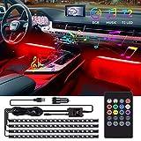 Speclux LED Auto Innenbeleuchtung, 72 LED Auto Streifen Licht LED Ambiente...