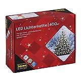 Idena 31123 - LED Lichterkette mit 400 LED in warm weiß, mit 8 Stunden Timer...