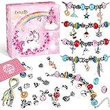 Lenski Mädchen Geschenke 4-11 Jahre - Charm Armband Kit DIY, Geschenke für Mädchen...