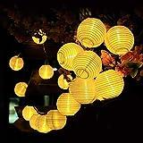 Solar Lampion Lichterkette Draussen Qomolo Wasserdicht 8 Modi Lichterkette Balkon...