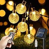 Solar Lichterkette Außen & Innen, Naspaluro 10M 60 LED USB Lichterkette, 8 Modi mit...