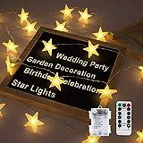 Led Lichterkette Sterne, Nasharia Lichterketten 8 Modi 30er Sterne LED Lichterkette...