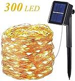 Solar Lichterkette Außen,OxyLED 300 LED Lichterkette 8 Modi 98ft Außenbeleuchtung...