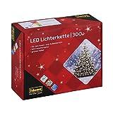 Idena 30441 - LED Lichterkette mit 300 LED in warm weiß, mit 8 Stunden Timer...