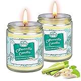 Citronella Kerze Outdoor, 2 Stück Dufted Kerzen im Glas mit Deckel, 100-120Std...
