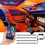 Auto-Innenbeleuchtung LED Strips, 72 LEDs APP-gesteuert, Beleuchtungsset mehrfarbig,...