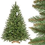 FairyTrees künstlicher Weihnachtsbaum FICHTE Natur, grüner Stamm, Material PVC,...