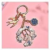 Seupeak Verbotene Blume Keychain Anhänger Rosa Ladies Keyring Geschenk Zinklegierung...