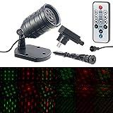 Lunartec Motivlaser: Motiv-Laser-Projektor mit 6 Muster, Timer, Fernbedienung, IP65...