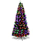 COSTWAY 150/180/210cm LED Künstlicher Weihnachtsbaum mit 8 Lichtmodi, Tannenbaum mit...