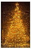 Star-Max Led Wandtannenbaum 400 cm Höhe, schwarz, 35251