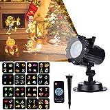 LED Projektionslampe Weihnachtsbeleuchtung Effektlicht Projektor mit 16 Stücke...